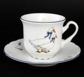 Набор чайных пар 240 мл Констанция Гуси (6 пар)