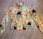Атласная блузка искусственный шёлк