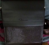Подарок на 23 февраля мужская сумка с натур кожа