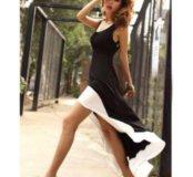 Платье сарафан асимметричное новое