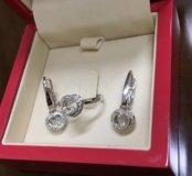 Очень красивый набор Chopard из золота с бриллиант