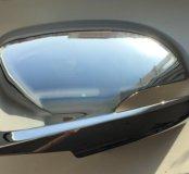 Накладки хромированные на зеркала Hyundai solaris