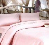 Сатиновое постельное белье +покрывало, 2спальный