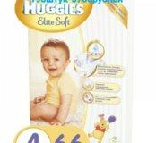 Подгузники Huggies Elite Soft 4 (8-14кг) 66штук