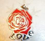 Подвеска Роза любви.серебро.эмаль.