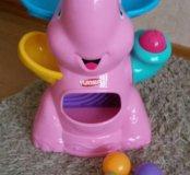 Слоник - фонтан Playskool розовый