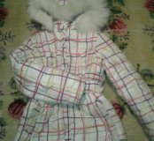 Куртка зимняя на девочку рост 140 см