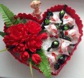 Сладкая валентинка. 350₽ если без конфет!