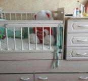 Кроватка детская трансформер с маятником