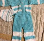 Новый костюмчик вязанный