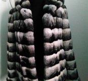 Куртка-шубка из шиншиллового кролика