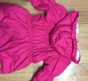 Пальто утеплённое для девочки на рост 90-100