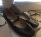 Туфли для танцев  кожаные