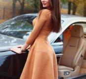 Замшевое  новое платье