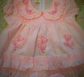 Комплект летний новый ( платье+ трусики)