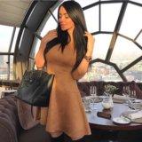Новое замшевое коричневое платье