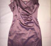 Атласное платье 44р.