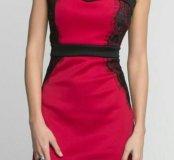 Платье-бандо красное. Новое.