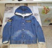 Теплая курточка 6-8 лет