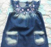 Платье джинсовое р. 92.