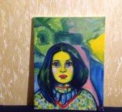 """Картина """" Девушка в саду """""""