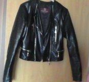 Кожанная косуха куртка