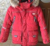Зимняя куртка размер 128