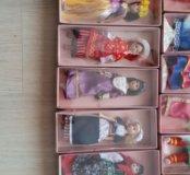 Коллекция фарфоровых кукол девушки народов мира