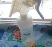 Молокоотсос Avent+ 3 баночки для хранения молока