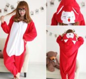 Красная лиса, кигуруми комбинезон пижама унисекс