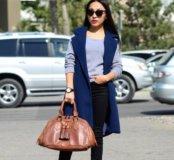 Пальто безрукавое синее