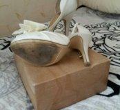 Туфли тканевые белые