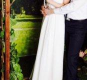 Свадебное,вечернее,белое платье