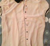 Рубашка розовая Zara размер s
