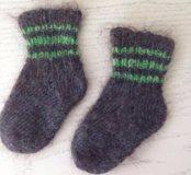 Детские носочки из овечьей шерсти