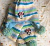 Шапочка и шарф теплые