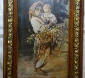 Живопись Платонов Наймичка Мать и ребёнок