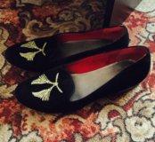 замшевые ботиночки 38-39 размера