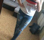 Джинсы, футболка , туфли