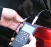 Проверка автомобиля толщиномером и сканером