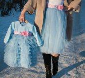Юбочка для мамы и платье для принцессы !!!