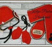 НОВЫЙ!!! Зимний комплект (шапка, шарф, варежки)