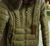 Пальто зимнее с поясом