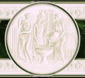 Керамический бордюр Pietra зеленый (1шт)