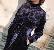 Бархатное платье- пиджак