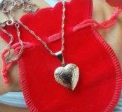 Кулон День Влюбленных в подарочной упаковк