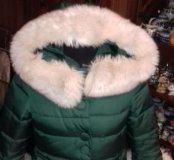Пальто зимнее изумруд,44-46 .