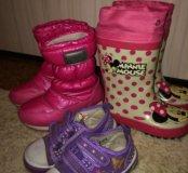 Обувь на девочку на все сезоны