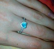 Новое кольцо с серебряным покрытием