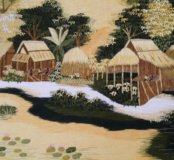 Картина вышивка гладью тайланд